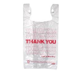 "White T-Shirt Thank You Bags, 11½""x6 ½""x21"""