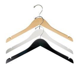 "17"" Flat Wooden Shirt Hanger with Notches"