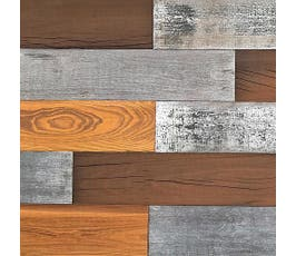 Smart Wall Paneling, Vintage Wash Mixed Wood Planks
