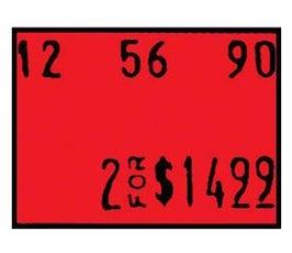 Labels - Dennison 06220 - Red
