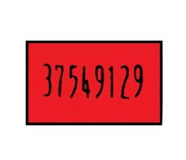Labels - Dennison 09225 - Red