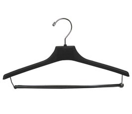 "Plastic Suit Hangers - Concave Wide-Shouldered - 15"" Black"