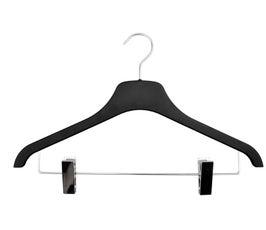 "Plastic Coordinate Hangers - Flat - 17"" Black"