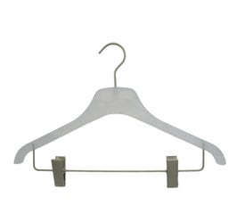 """Plastic Coordinte Hangers - Flat - 17"""" Frosted"""
