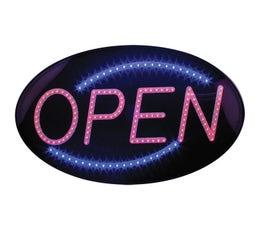Horizontal LED Open Sign