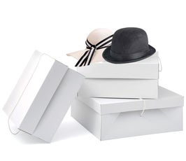 Millinery Boxes - Large - White