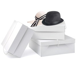 Millinery Boxes - Small - White