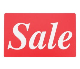 "Plastic Display Cards - 7"" x 11"" - ""Sale"""