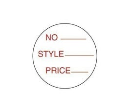 "Labels - Pressure Sensitive - ""Style and Price"""