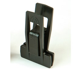 Plastic Clips - Slimline - Black