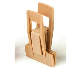 Plastic Clips - Slimline - Camel