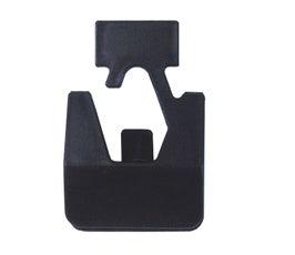 Plastic Snap Hangers - Black - 500 Count