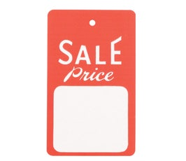 """""""Sale Price"""" Tags - Large Strung -  Red/White"""