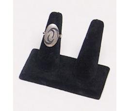 Ring Display - Tall Double Finger - Black Velvet