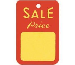 """""""Sale Price"""" Tags - Small Unstrung - Red/Yellow"""
