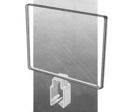"Card Holders - Acrylic - 7"" x 11"" w/Universal Stem"