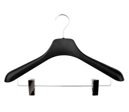 """Plastic Coordinate Hangers - Concave - 17"""" Frosted"""