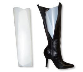 Roll Up Style, Smooth Plastic Boot Shapers, White - 6 Pairs