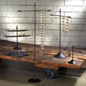 Vintage and Industrial Style Jewelry Displays